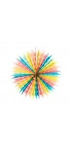 Lot de  3 Eventails berlingot multicolore 40/30/20 cm