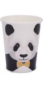 Lot de 8 gobelets Panda Trop mignon 25 cl