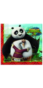 Lot de 16 serviettes jetables Panda Trop mignon 33 x 33 cm
