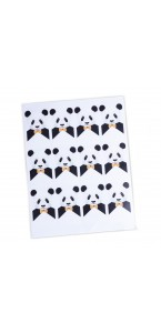 Lot de 24 stickers Panda 8 x 4,5 cm