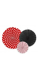 Lot de 3 rosettes Lady Bug 40+32+23 cm