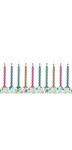 Lot de 6 bougies anniversaire magique 6 cm