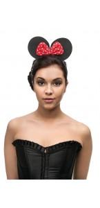 Serre-tête souris rouge et noir