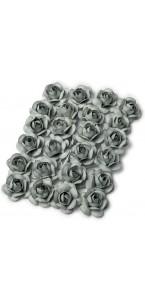 Lot de 24 Roses grises sur tige 1,3 cm