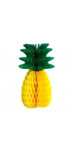 Ananas alvéolé jaune et vert 31 cm