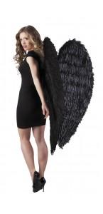 Ailes d'ange noires géantes halloween 120 cm