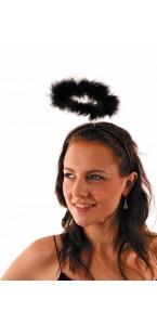 Auréole d'ange noire Halloween