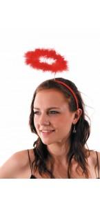 Auréole d'ange rouge Halloween
