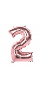 Ballon Chiffre 2 rose gold 86 cm