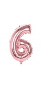 Ballon Chiffre 6 rose gold 86 cm