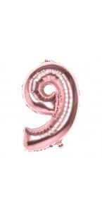 Ballon Chiffre 9 rose gold 86 cm