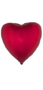 Ballon coeur aluminium rouge 80,5 x 75 cm