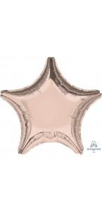Ballon étoile aluminium rose gold 43 cm