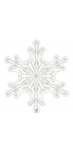 Ballon Etoile Flocon de neige 91 cm