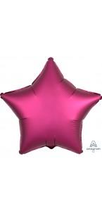 Ballon étoile satin luxe grenade 43 cm