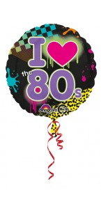 Ballon I love the 80's