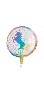 Ballon Licorne magique holographique standard