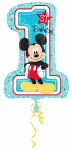 Ballon Mickey 1st birthday supershape 48 x 71 cm