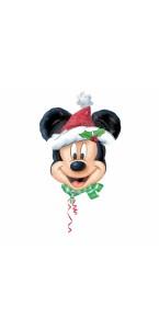 Ballon Mickey Noël supershape 69 x 53 cm