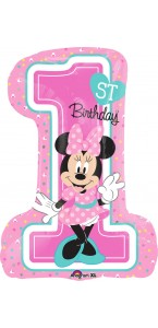 Ballon Minnie 1st birthday supershape 48 x 71 cm
