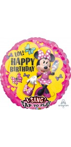 Ballon Musical Minnie Mouse birthday 71 cm