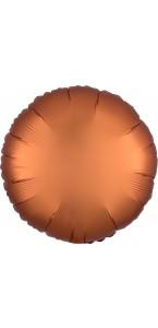 Ballon rond satin luxe ambre 43 cm