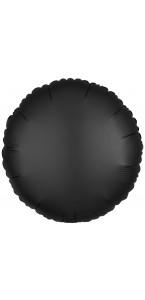 Ballon rond satin luxe noir 43 cm