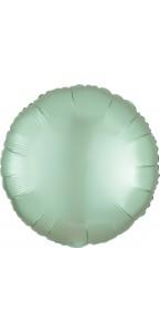 Ballon rond satin luxe vert menthe 43 cm