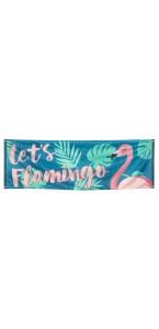 Bannière Let's flamingo 74 x 220 cm
