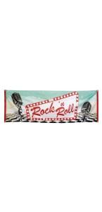 Bannière Rock'n Roll 74 x 220 cm