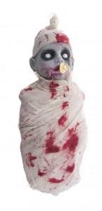 Bébé automate qui pleure lumineux et sonore Halloween