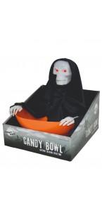 Bol à bonbons ''Essaie-moi'' avec lumière et mouvement Halloween