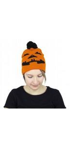 Bonnet citrouille lumineux Halloween