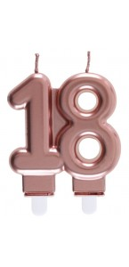 Bougie anniversaire 18 ans rose gold