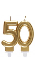 Bougie anniversaire 50 ans or