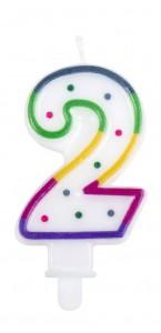 Bougie anniversaire chiffre 2