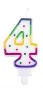 Bougie anniversaire chiffre 4