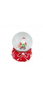 Boule à neige rouge Père Noël 6,5 x 8,5 cm