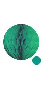 Boule alvéolée ballon vert pastel 20 cm