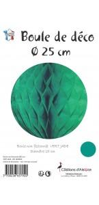 Boule alvéolée ballon vert d'eau 25 cm