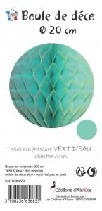 Boule alvéolée ballon vert d'eau 20 cm