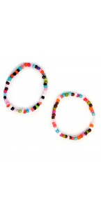 Lot de 2 bracelets perles