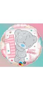 Ballon 1st Birthday rose 45 cm