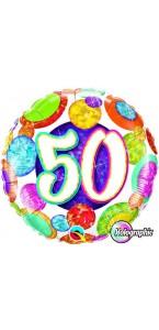 Ballon Anniversaire 50 ans aluminium