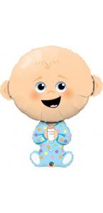 Ballon baby boy bleu 86 cm