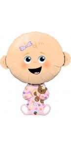 Ballon baby girl rose 86 cm