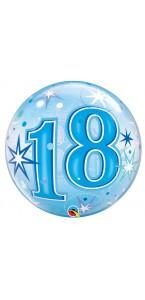 Ballon Bubble 18 ans Etoiles 55 cm