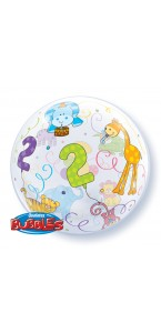 Ballon Bubble 2 ans transparent