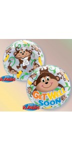 Ballon Bubble Amour de singes 55 cm