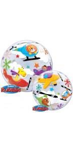 Ballon bubble Animaux en fête 55 cm